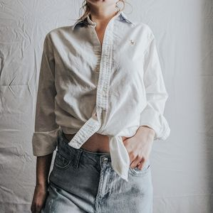 White Ralph Lauren Button Down